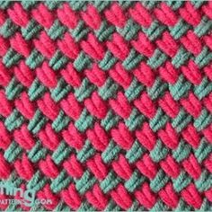 The knitted two-color woven plait stitch is an incredible textured stitch. Learn how to make this beautiful knitted stitch from this FREE video tutorial . Baby Hat Knitting Pattern, Baby Shoes Pattern, Crochet Baby Shoes, Plait, Basket Weaving, Stitch Patterns, Knitted Hats, Pink, Videos