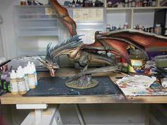 Fantasy Dragon, Dragon Art, Fantasy Art, Dragon Time, Dragon Miniatures, Fantasy Miniatures, Toy Art, Tabletop, Legendary Dragons