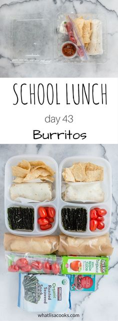 Easy school lunch idea to pack for school and to-go for a field trip. WhatLisaCooks.com