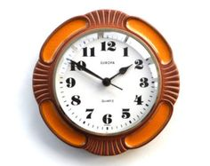 retro wall clock on Etsy, a global handmade and vintage marketplace.