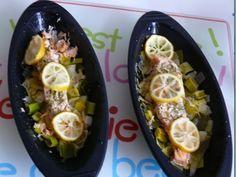 Papillotes en silicone : Pavé de saumon au poireaux