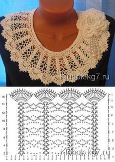 Diy Crafts - Diy Crafts - -Crochet scarf necklace accessories 24 Ideas for 2019 crochet Crochet Circle Vest, Crochet Collar Pattern, Col Crochet, Crochet Lace Collar, Crochet Cape, Crochet Circles, Crochet Diagram, Filet Crochet, Crochet Shawl