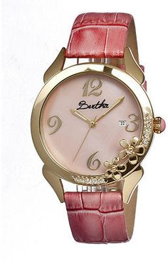 78fae15c5dd Bertha Gold   Light Pink Daisy Mother-of-Pearl Watch