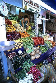 Fruit market.  Huatulco, MEXICO.