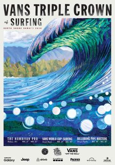 Showcase of surfing and surf culture inspired art by Hawaii based surf artist, Patrick Parker on Club of the Waves. Patrick's collage surf art was featured in the 2016 Vans Triple Crown of Surfing poster. Style Surf, North Shore Hawaii, Surf Competition, World Surf League, Vintage Surf, Retro Surf, Vintage Mermaid, Vintage Travel, Etsy Vintage