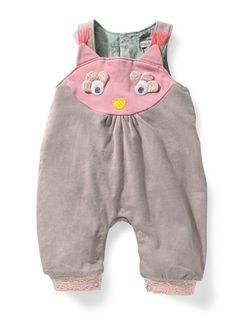 Moulin Roty - Sabline - Owl dungarees. Available at bonjourpetit.com