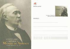Manuel de Arriaga, presidente da República e estudante da Universidade de Coimbra Stamps, Movies, Movie Posters, Student, Presidents, People, Wood, Livros, Personality