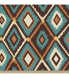 Anti-Pill Fleece Fabric Southwestern Diamond
