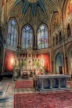 Cathedral of St. John the Baptist ~ Savannah, GA. One the the most breathtaking places I've ever seen!: