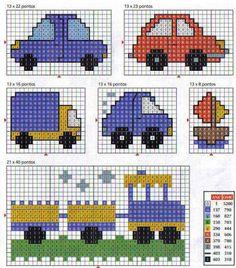 carros ponto cruz - Pesquisa Google