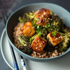 A photo of Sweet and Spicy Tofu, ready to enjoy.