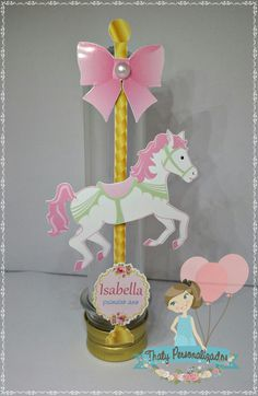 Carousel Birthday Parties, Carousel Party, Birthday Party Themes, Carrousel, Baby Shower, Carousel Horses, Third Birthday, Party Centerpieces, Unicorn Party