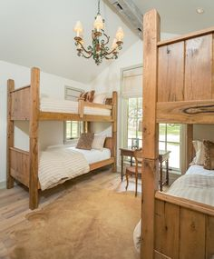 Kids twin bunk beds from Bougainvillea cottage.
