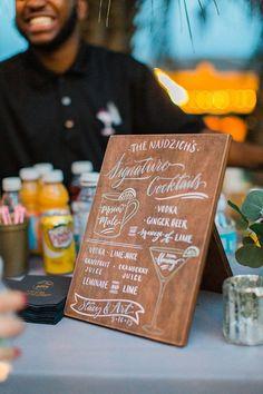 create signature cocktails for your wedding  -  Historic Florida garden wedding: Stacy + Art