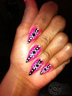 stiletto+nail+designs   LaydéBeauti: My Nail Art: Stiletto Nails