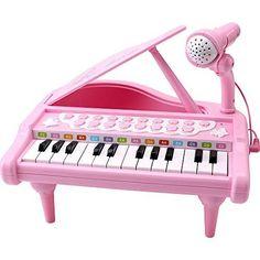Amy&Benton Toddler Piano Toy Keyboard Pink for Girls Birthday Gift 1 2 3 4 Years Old Kids 24 Keys Multifunctional Toy Piano Pink Birthday, Birthday Gifts For Girls, Baby Girl Gifts, Gifts For Kids, Baby Girls, Birthday Presents, Kids Girls, Pink Piano, Baby Piano