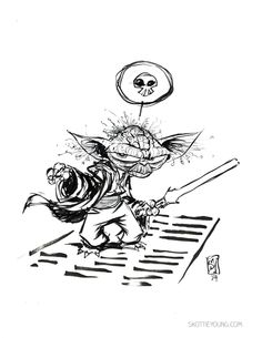 #dailysketch Yoda original art in my store http://skottieyoungstore.bigcartel.com