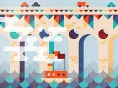 bridge designed by Elena Lazutina. Connect with them on Dribbble; the global community for designers and creative professionals. Travel Illustration, Illustration Sketches, Shape Art, Environment Design, Motion Design, Creative Design, Vector Art, Illustrators, Character Design