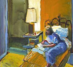 "bofransson: "" Henrietta Berk (American, Girl Writing a Letter "" Bay Area Figurative Movement, Artist Biography, Portrait Art, Portrait Paintings, Figure Painting, Figurative Art, Art School, Impressionism, Art History"