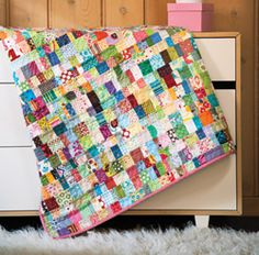 Kid Potential by Amanda Jean Nyberg is a fun, scrappy quilt for a kid –– or the kid in you.