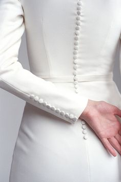 Long sleeve classic minimalist wedding dress Modest covered fit&flare crepe wedding dress Modern gown with train and buttons MONIQUE - long sleeve wedding dress – Monique Crepe Wedding Dress, Classic Wedding Dress, Modest Wedding Dresses, Designer Wedding Dresses, Crepe Dress, Malay Wedding Dress, Classic Dresses, Reception Dresses, Wedding Dress Patterns