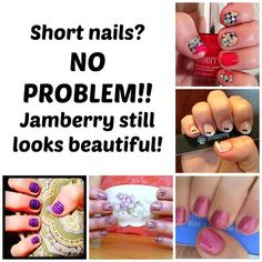 No problem. Jamberry will make your nails look awesome and you will no longer want to bite them! But nails don't have to be long and elegant to be beautiful! Short nails are gorgeous too! Uñas Jamberry, Jamberry Nails Tips, Jamberry Nails Consultant, Jamberry Party, Jamberry Nail Wraps, Diy Nails, Cute Nails, Pretty Nails, Jamberry Games