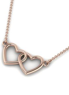 INTERLOCKING HEARTS NECKLACE AND ANKLET FROM MY HIGH SCHOOL HUNNY
