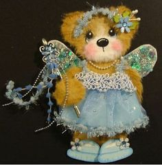 FAIRY GIRL premade scrapbook page paper piecing tear bear TWAG Craftingalong