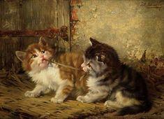 Julius Adam II (German, 1852-1913) - Little fighters - Oil on panel
