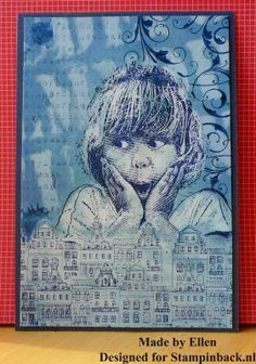STAMPINBACK.NL : Oud en nieuw Art Journal Pages, Atc, Mixed Media, Collage, Stamping, Artist, Buildings, Cards, Blog