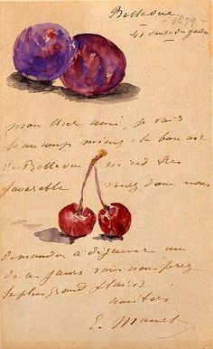 Illustrated letters of Edouard Manet.
