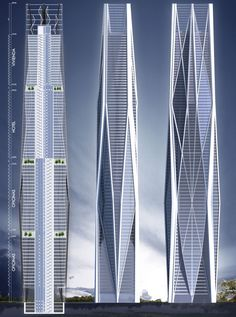 Epic architecture and development projects around the globe // Tezocomoc Tower (Serpiente Emplumada Tower), Mexico City by Vasquez and Wedeles Architects :: proposal, one of the Bicentenary Towers