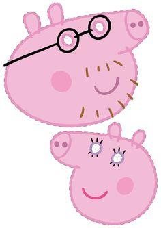 Máscaras para festa da Peppa Pig e Backyardigans para imprimir - Dicas pra Mamãe