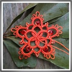 "Good morning!  Are you ready for another goody???  How about a little bit of Pumpkin Pie ?     A size 8 tatting needle with S244 ""..."