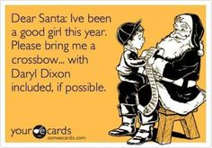 """This is on my list!! I said """"i want anything Daryl Dixon """" to my best friend and then said """"Or if you could just find Daryl that would be good too! """" lol"""