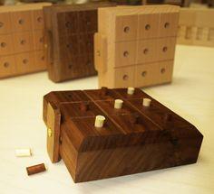 Custom Made Handmade Wood Tic Tac Toe Game