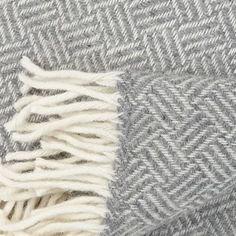 Samba wool throw - grey - Klippan Yllefabrik