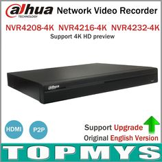 Dahua NVR 4K Network Video Recorder NVR4208-4K NVR4216-4K NVR4232-4K with 2SATA Interface Support H265 IP Camera #Affiliate