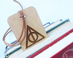 Harry Potter Bookmark Harry Potter Gift Wooden bookmark by Oksis