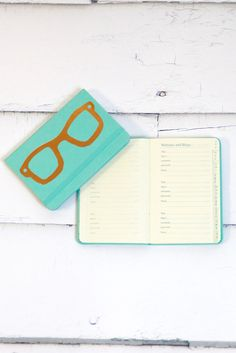 Password Keeper Notebook in Aqua Glasses | Office – The Fair Lady Boutique