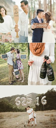 She Said Yes | Save the Date  Engagement Photo Ideas | Super Cute Engagement Announcement Photo Ideas