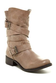 Tan Buckle Boot