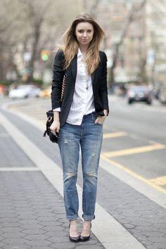 cfd8a4bed2 11 Street Style Ways to Wear Boyfriend Jeans .
