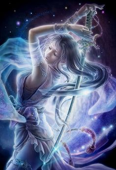 """""""Everything changes when you start to emit your own frequency rather than absorbing the frequencies around you, when you start imprinting your intent on the universe rather than receiving an imprint from existence."""" ~Barbara Marciniak Artist: Fukami Kazuha - Artemis"""