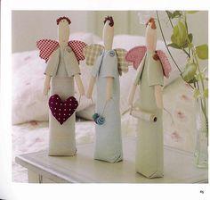 ARTE COM QUIANE - Paps,Moldes,E.V.A,Feltro,Costuras,Fofuchas 3D: molde boneca TILDA anjos dos aviamentos