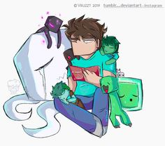 Father's day by Vruzzt - Minecraft World Minecraft Ships, Minecraft Comics, Minecraft Funny, Minecraft Fan Art, Minecraft Houses, Herobrine Wallpaper, Minecraft Wallpaper, Minecraft Drawings, Minecraft Pictures