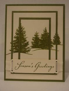 Triple Time Stamped Christmas Card by candee porter - Cards and Paper Crafts at…