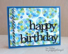 Bubble Birthday - Make a template on post it note then stamp on circles with the end of a pencil with a rubber attached.