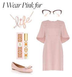 """""""Fashionably Pink"""" by explorer-14317880571 ❤ liked on Polyvore featuring Kobelli, Salvatore Ferragamo, Valentino, Tory Burch and IWearPinkFor"""