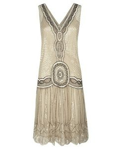 Jigsaw Sequin Flapper Dress - reminds me of Great Gatsby